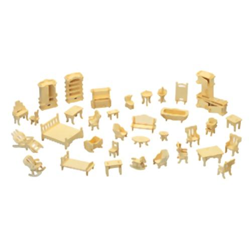 Quay p077 furniture set woodcraft construction kit for Furniture quay