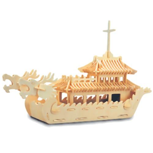 модель деревянная сборная. лодка дракона