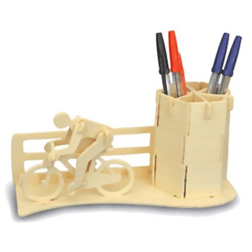 Racing Bicycle Pen Holder Woodcraft Construction Kit (Quay S005)