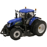 New Holland T7050 Row Crop Dual Rear Wheel Tractor - ROS die cast - 1:32 scale  (Ros 30137)