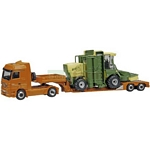 Mercedes Benz Actros Low Loader with Krone BiG M400 Combine Harvester - Schuco Miniature Collectable Models - 1:87 scale  (Schuco 22037)
