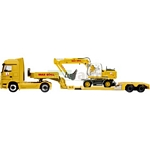 Mercedes Benz Actros Low Loader with Liebherr Excavator - Schuco Miniature Collectable Models - 1:87 scale  (Schuco 23651)