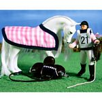 Horse and Rider Set - Isabella & Icicle - Julip Horse of the Year  (Julip 1420)