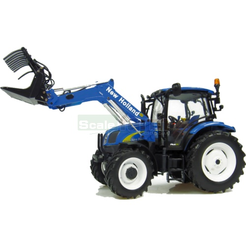 New Holland T6020 Tractor with 750TL Loader - 2011 Version (Blue) (Universal Hobbies 2943)
