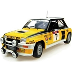 Renault 5 Turbo No.7 - 1982 Tour de Corse Winner - Universal Hobbies Cars - 1:18 scale  (Universal Hobbies 4535)