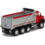 CAT CT660 Dump Truck - Red and Silver