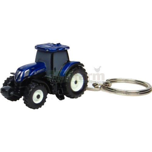 New Holland T7.210 Blue Power Tractor Keyring (Universal Hobbies 5585)