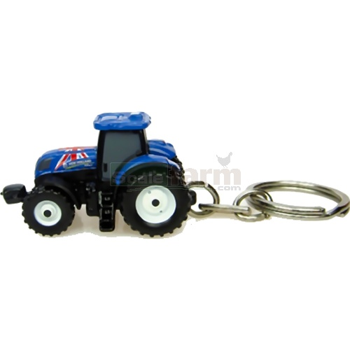 New Holland T7.210 Tractor Keyring (Union Jack Edition) (Universal Hobbies 5586)