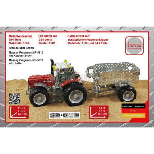 Tronico 10031 massey ferguson 5430 tractor and trailer for Metal craft trailers parts