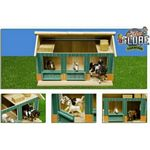 Wooden Horse Stable with Workshop and 2 Loose Boxes