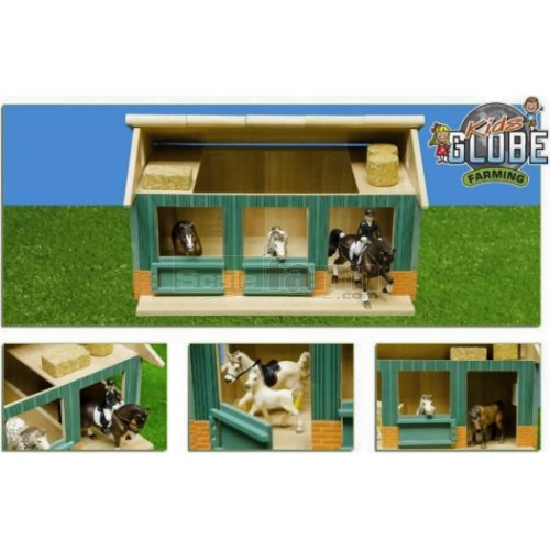 Wooden Horse Stable With