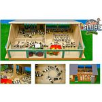 Wooden Cow Shed with Milking Carousel (Kids Globe 610768)
