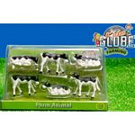 Black and White Calves (Pack of 6)