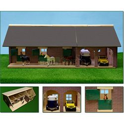 Wooden Horse Stables With Garage