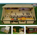 Wooden Cow Shed With Milking Parlour - Kids Globe - 1:32 scale  (Kids Globe 610495)