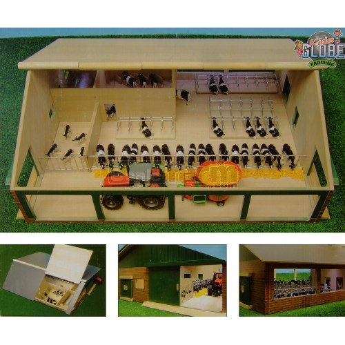 Kids Globe 610495 - Wooden Cow Shed With Milking Parlour