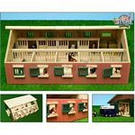 Wooden Horse Stable with Storage Room