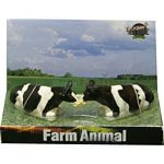 Friesian Cattle - Sitting - Kids Globe - 1:32 scale  (Kids Globe 611872)