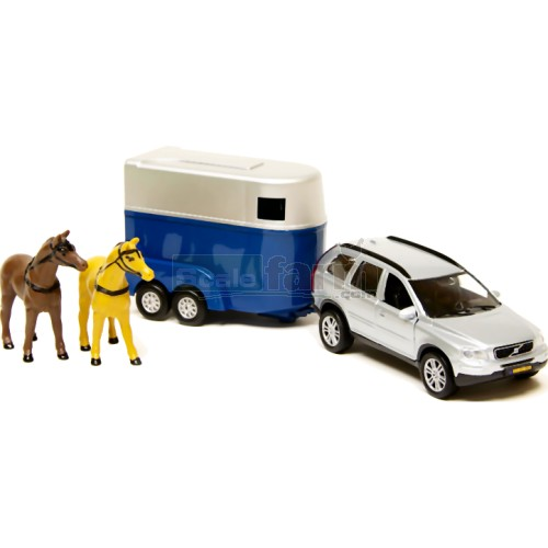 Trat Er Toy : Kids globe volvo car and horse trailer set