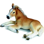 Haflinger Foal, lying - Schleich World of Nature - Farm Life  (Schleich 13292)