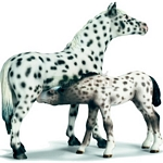 Knabstrupper Mare - Schleich World of Nature - Farm Life  (Schleich 13617)
