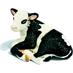 Holstein Calf, lying - Schleich World of Nature - Farm Life  (Schleich 13639)
