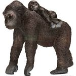 Gorilla, Female with Baby - Schleich World of Nature - Wild Life  (Schleich 14662)