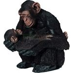 Chimpanzee Female with Baby - Schleich World of Nature - Wild Life  (Schleich 14679)