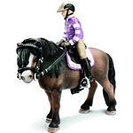 Pony riding set - Schleich World of Nature - Farm Life Accessories  (Schleich 42039)