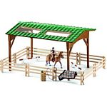 Riding Arena with Shelter, Fencing, Jumps, Horse and Rider (Schleich 42189)