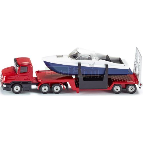 Scania Low Loader with Speed Boat (SIKU 1613)
