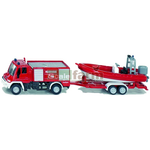 Mercedes Benz Unimog Fire Engine with Boat (SIKU 1636)
