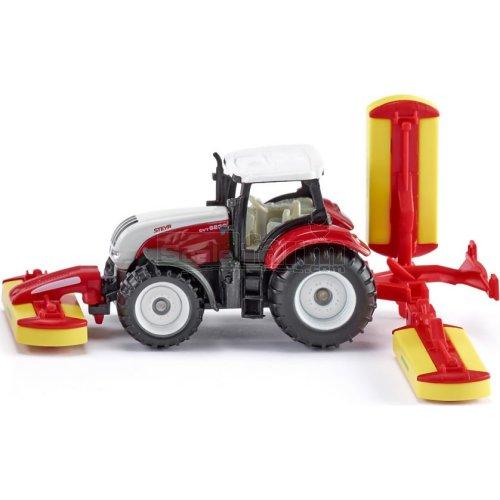 Siku 1672 Steyr Cvt 6230 Tractor And Pottinger