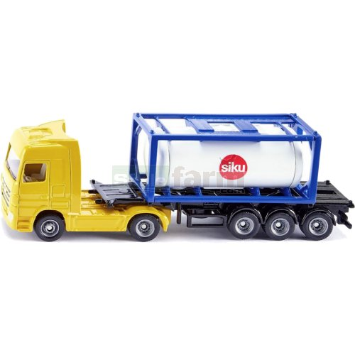 Mercedes Benz Actros Semi Trailer with Tank Container (SIKU 1795)