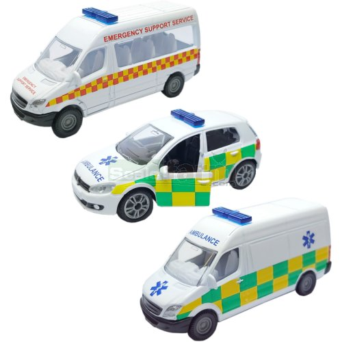Ambulance Service 3 Vehicle Set - UK (SIKU 1825)