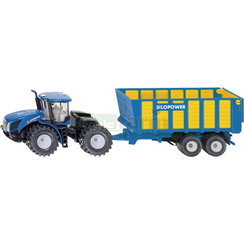 New Holland T9.560 Tractor with Silage Trailer (SIKU 1947)