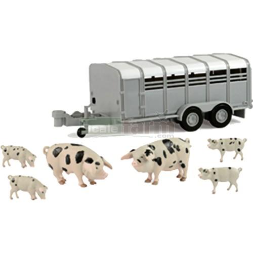 Britains Big Farm Pig REMORQUE AVEC COCHONS