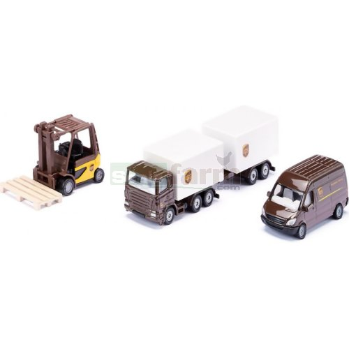 UPS Logistics 3 Vehicle Set (SIKU 6324)