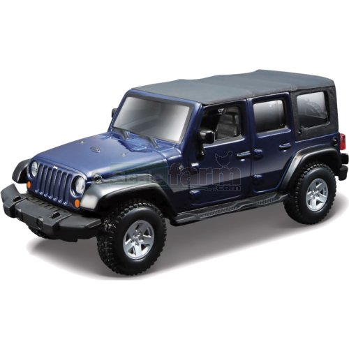 Jeep Wrangler Unlimited Rubicon - Blue (Bburago 43012)