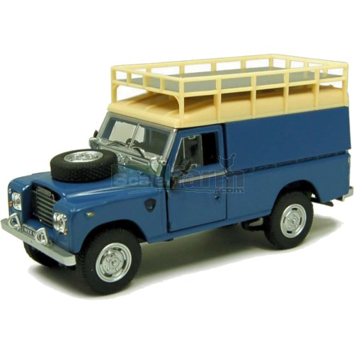 Land Rover S3 109 - Blue with Roof Rack (Cararama 251XND)