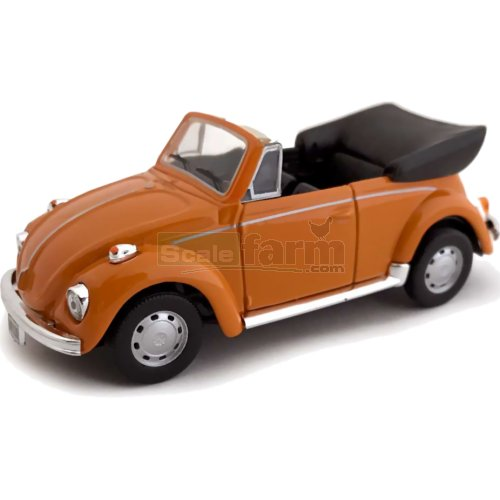 VW Beetle Cabrio - Orange (Cararama 4-10690O)