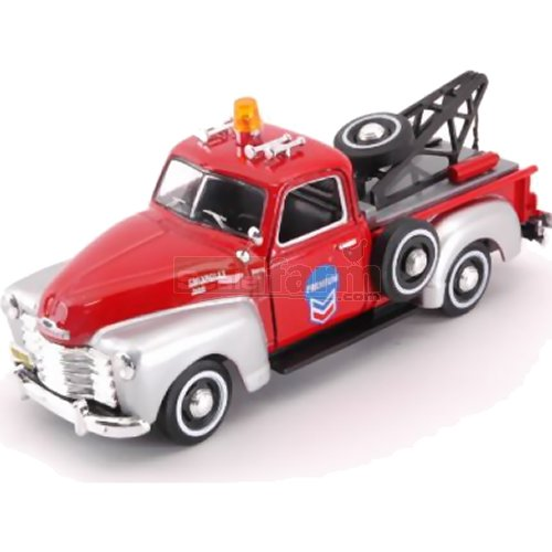 Chevrolet C1300 Breakdown Tow Truck - Red / Silver (Cararama 4-13860)