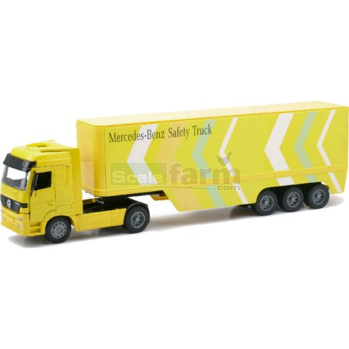 Mercedes Benz Actros Container Trailer - MB Safety (NewRay 12413)