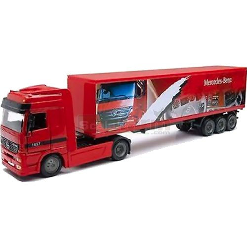 Mercedes Benz Actros Container Trailer - Red (NewRay 15113)
