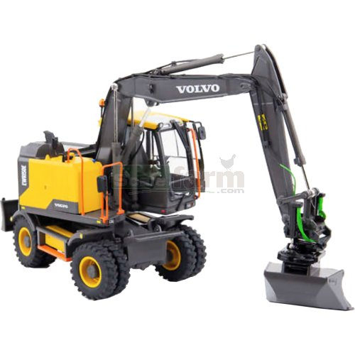 Volvo EWR150E Wheeled Excavator with Steelwrist Tiltrotator Mitas Tyres (AT Collections 3200101)