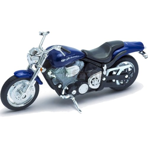 Yamaha Road Star Warrior - 2002 (Blue) (Welly 12156)