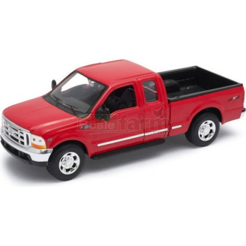 Ford F-350 Pick Up - 1999 (Red) (Welly 22081)