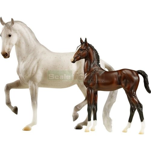 Airiella and Favory Airiella - Lipizzan Mare and Foal (Breyer 1827)