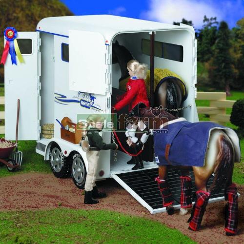 Breyer 2487 Large Horse Box Trailer Blue