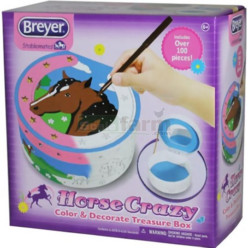 Stablemates Horse Crazy Colour and Decorate Treasure Box (Breyer 4200)